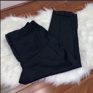NWT LOFT Black Crop Pants Size Large